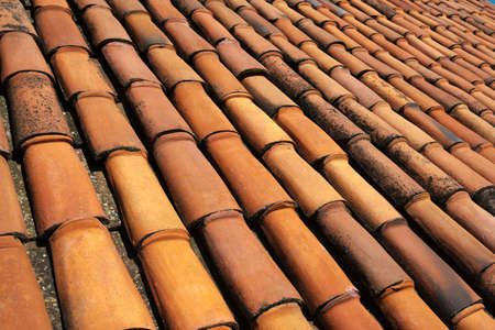 rooftiles: texture of old clay tiles
