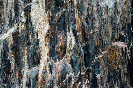 metamorphic: texture layers metamorphic rocks closeup Stock Photo