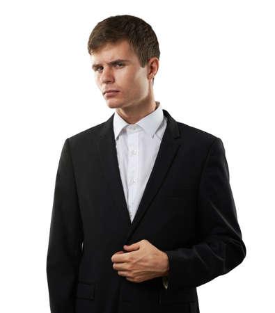 desconfianza: sospecha y desconfianza hombre es mirar de cerca a alguien