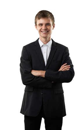 pleasure: happy businessman is smiling and pleasure