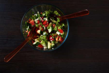 beautiful salad: beautiful salad on the black  background