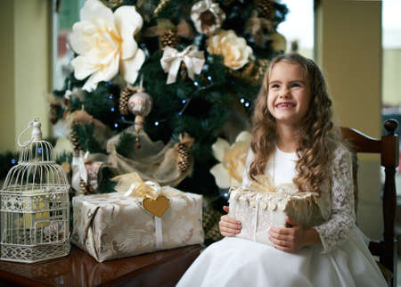 toothless: Cute toothless girl rejoices Gifts for Christmas