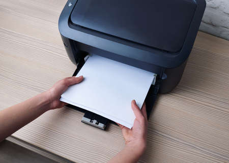 lay down: lay down or take the paper from  printer