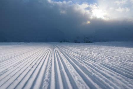 snowcat: processed snowcat track looks great. stripes on snow