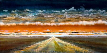 artwork SEMITA II by Artem Ogurtsov. canvas 25x35 cm, oils, collage