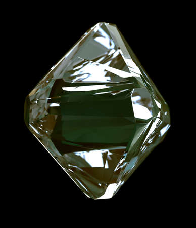 Diamond 3D gem mineral crystal briliant reflection