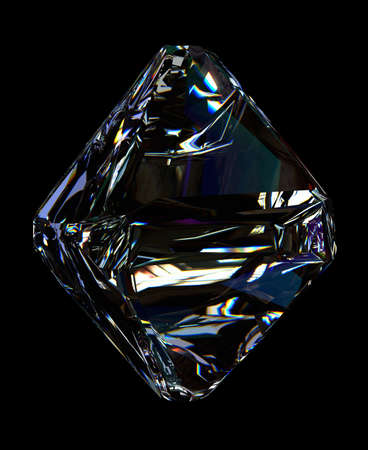 Dispersion Diamond reflection abstract colorful clearness shining isolated on black shining gem