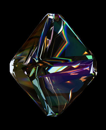 Colorful Dispersion Diamond transparency gem