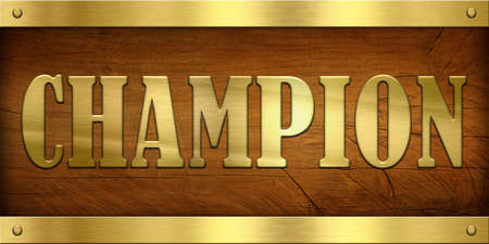 Vintage Door Plate, Champion photo