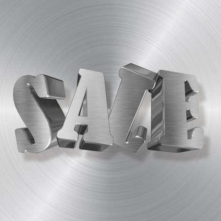 Venta, letras de metal Foto de archivo - 32647815