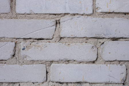 White brick wall. Texture, background