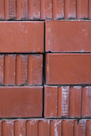 New red brick. Texture, background Stock Photo
