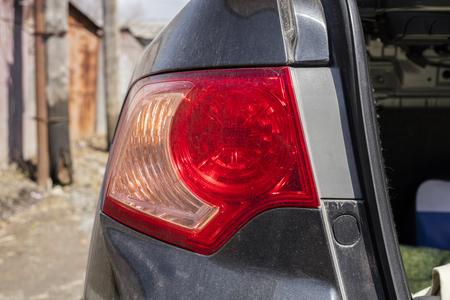Optics of the car. Close-up Stok Fotoğraf