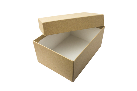 Cardboard boxes, on white background. Corrugated cardboard. Isolated
