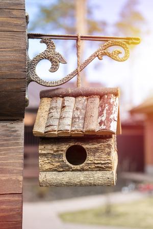 Wooden birdhouse. House for birds
