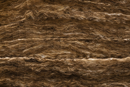 Mineral wool, laid in several layers. Background Texture