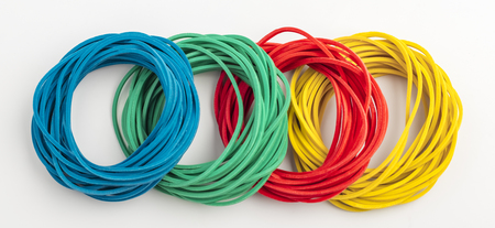 Colorful background rainbow colors rubber bands loom Standard-Bild - 123725402