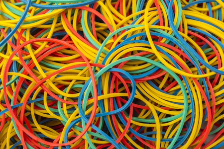 Colorful background rainbow colors rubber bands loom. texture background Standard-Bild - 123723266