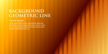 Beautiful background with geometric lines on a gold background. Copy space for your text. Vector illustration