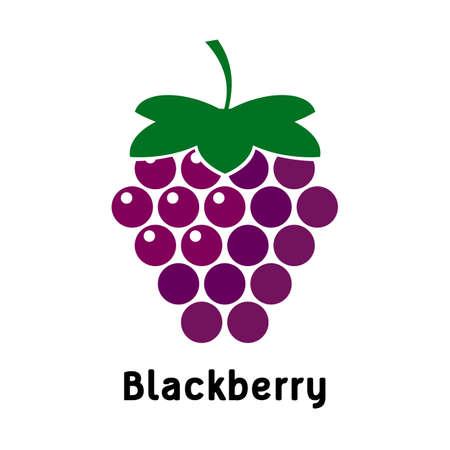 blackberry logo on a white background. Berry Vector Design, Illustration