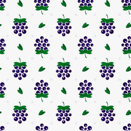 raspberry with leaves. Vector seamless background, illustration