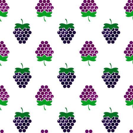 Blackberry berries. Vector seamless background, illustration Illustration