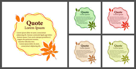 Set of different colored quote blocks for statements or comments. Bubble quotation mark templates with space for text in flat style Vecteurs