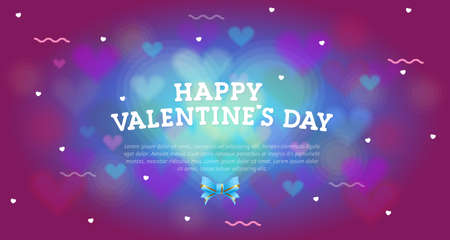 Web banner Happy Valentine's Day, on a pink background with hearts and place under the text. Declaration of love, invitation, poster for the holiday. Vector, illustration