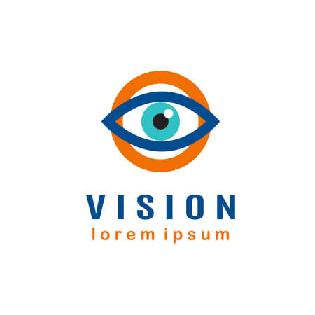 ophthalmologist: Eye template, vision concept, ophthalmologist business card
