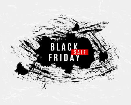 splats: Black Friday Sale grunge splats modern banner. Advertisement placard, Promo . Promotional design for online store, web site. business template