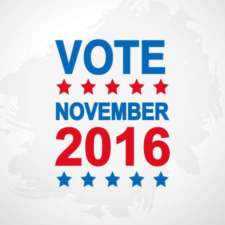 Vote. Election day poster. 2016 USA. Politics voting concept. National flag colors. Vector illustration