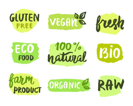 home grown: Bio natural food concept.