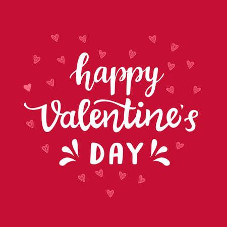 Happy Valentines Day typography poster Illustration
