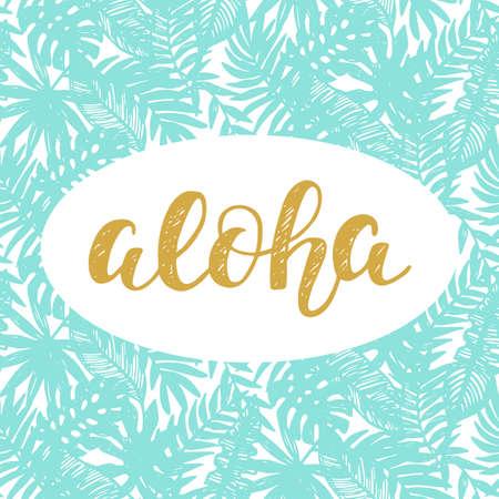 Aloha Summer lettering Illustration