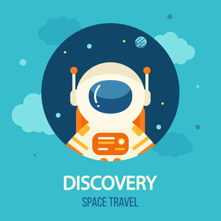 Cosmos discovery poster, exploration and travel theme Illustration