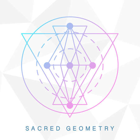 Sacred geometry sign. Linear Modern Art