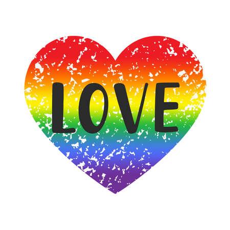 Love gay pride emblem
