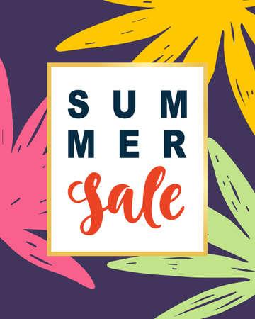 여름 판매 현대 배너 템플릿 배경