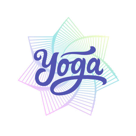 Yoga. Hand written lettering