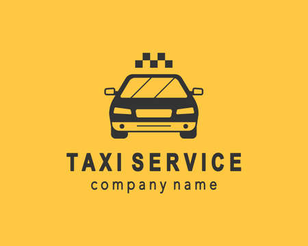 Taxi service logo design, elegant emblem. Company logotype template, business identity