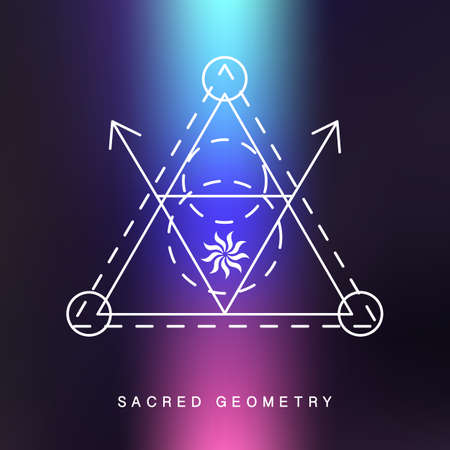 Sacred geometry sign, photo overlay