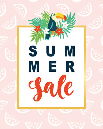 Summer Sale Modern Banner Template Background