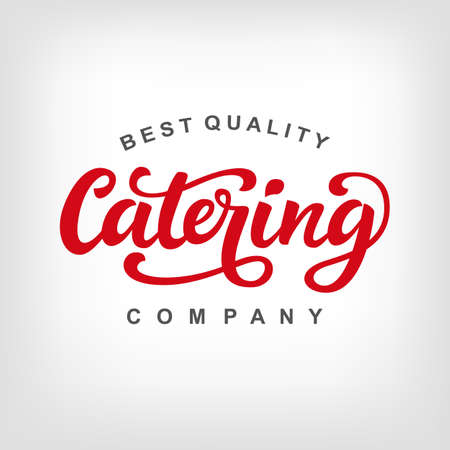 Catering vector logo badge Ilustrace