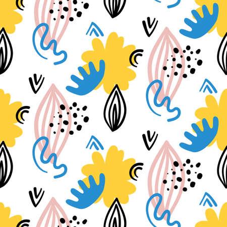 Scandinavian hand drawn seamless pattern