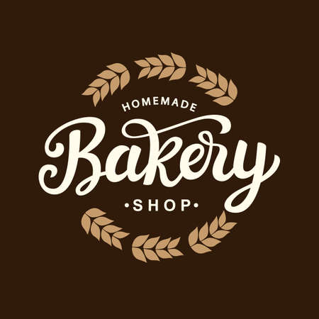 パン屋さんのロゴのテンプレートのデザイン