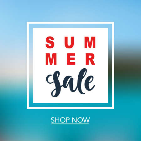 Summer Sale mobile banner template for online shopping, network. Vector Illustration