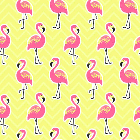 Beautiful seamless pattern with flamingo