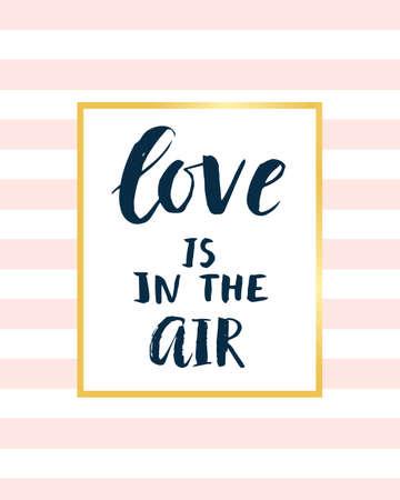 Liefde is in de lucht moderne kalligrafie