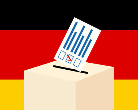 Election in Germany concept. Illustration