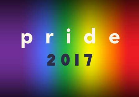 Gay Pride 2017, Inspirational Gay Pride poster with rainbow spectrum flag